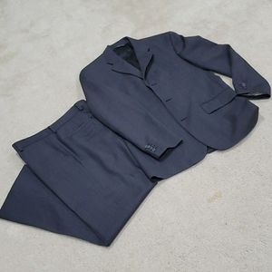 Grey mens suit jacket and pants 40r 33x30